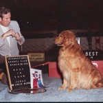 March 30, 1975 Best In Show -?International KC  Bill Trainor with  Ch. Cumming's Gold Rush Charlie