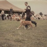 Chic showing in 1960 Look at the rings made of string and the big brown heavy tents.