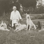 Mrs. Geraldine Rockefeller Dodge with her Dogs
