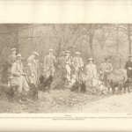 Labrador Retriever Club's Twenty-Fifth Field Trials Important gundog trials frequently held at Idsworth, Horndean, Hants, & the Countess Howe's estate. This picture shows a number of Labrador Retrievers with their handlers.