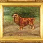 Gustav Muss-Arnolt (American, 1858-1927),  Portrait of Fuzzie, Cocker Spaniel, 1922, Oil on canvas, 17 x 20 inches, Signed/dated (lower right), Framed: 25 x 29 inches,  Courtesy The William Secord Gallery, NYC