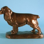 F. H. Vocke (American, 20th C.),  Standing Cocker Spaniel, 1938,  Bronze, 6 ¼ x 8 x 3 ½ inches