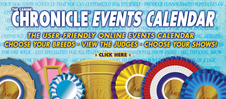 Introducing The Canine Chronicle Events Calendar User Friendly Online