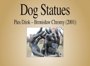 F Dog Statues